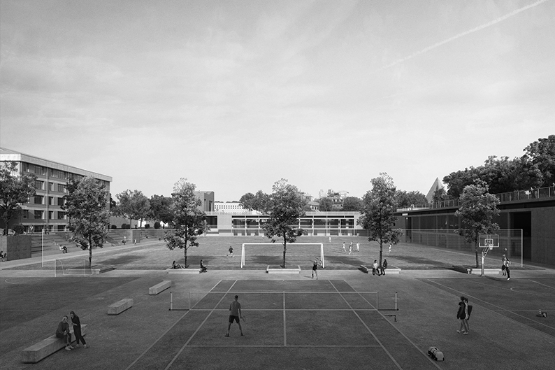 art labs and sport park testaccio. third prize. rome