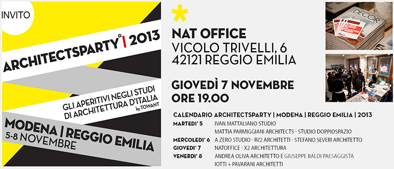 architects party 2013. reggio emilia